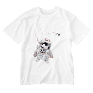 宇宙ペン Washed T-shirts