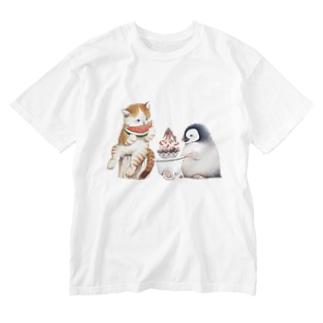 まなつ&まふゆの南極のかき氷を持ってきたよ Washed T-shirts