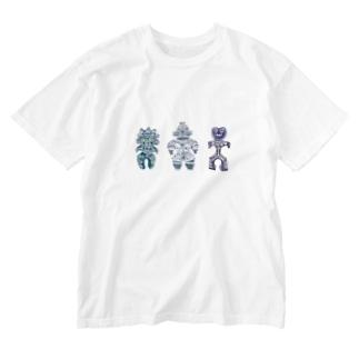 土偶三姉妹 Washed T-shirts