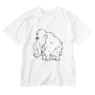 マンモス◉◉ Washed T-shirts