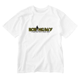 デザイン①Boring Day 『イエロー』 Washed T-shirts