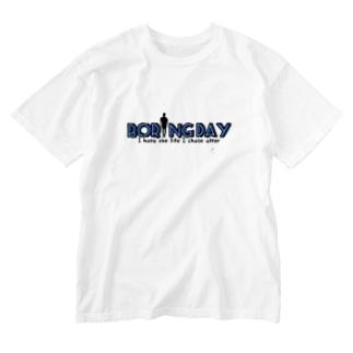 デザイン①Boring Day 『ブルー』 Washed T-shirts