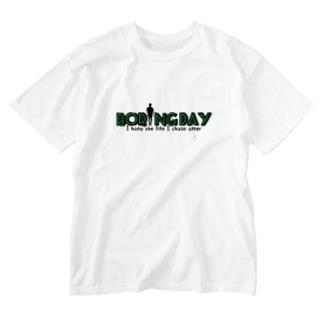 デザイン①Boring Day 『グリーン』 Washed T-shirts
