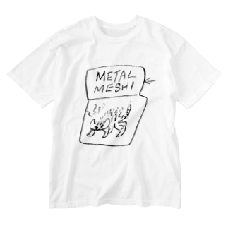 METAL MESHI CAT Washed T-shirts