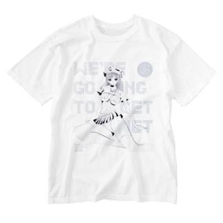 loveclonesのGET WET セーラーマリン オーロラ ホワイト Washed T-shirts