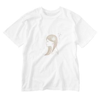 桜女子 Washed T-shirts