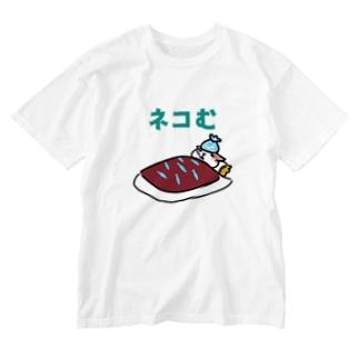 寝込むネコ Washed T-shirts