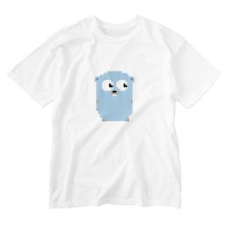ピクセルGopherくん Washed T-shirts