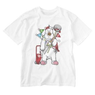 運動会だ!シロクマだ! Washed T-shirts
