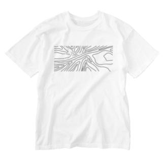 yuragi B Washed T-Shirt