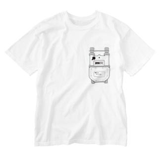 ワンポイントガスメーター Washed T-shirts