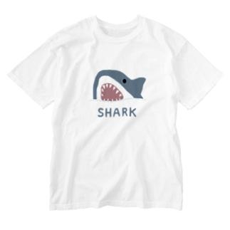 サメ Washed T-shirts