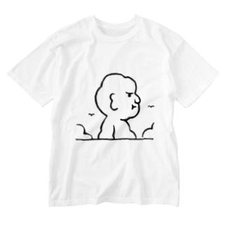 入道さんあらわる Washed T-shirts