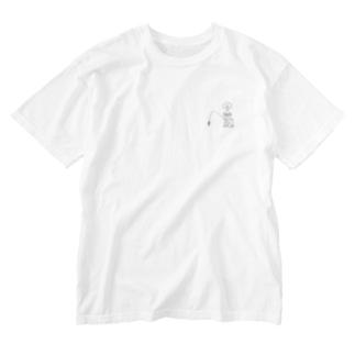 スケルトンぽっぽんぬ Washed T-shirts