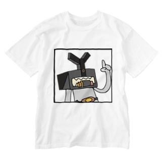 M=らくがき‐ハコカブト(C-2) Washed T-shirts