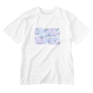 水槽のアベニーパファー Washed T-shirts