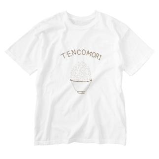 大食い専用デザイン「てんこもり」 Washed T-shirts