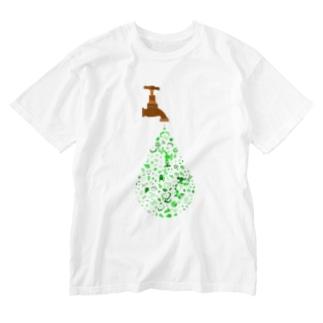 エコ 廃棄物 Washed T-shirts
