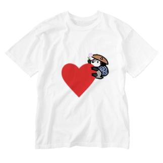 ハートのあきんどくん Washed T-shirts
