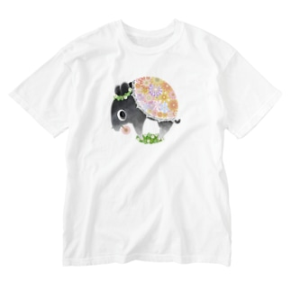ハルノキ工房のはなくいバク(シンプル) Washed T-shirts
