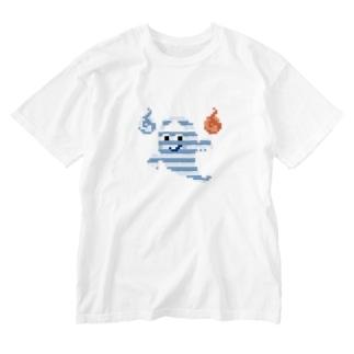 本当に怖い!ドット絵おばけ Washed T-shirts