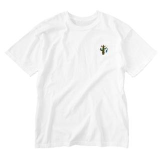 ちびカラフルメキシカンサボテン、ウクレレひっさげるの巻 Washed T-shirts