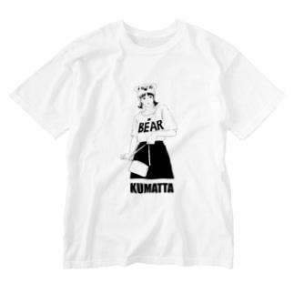 クマったガール Washed T-shirts
