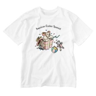 アメコカとプレゼント Washed T-shirts