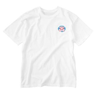 ヘッドセットの文鳥 正面 Washed T-shirts