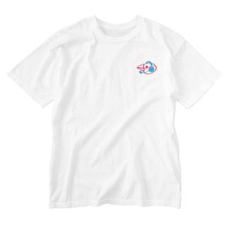 ヘッドセットの文鳥 横顔 Washed T-shirts