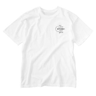yoshiのPLAY UKULELE KEEP SMILE (モノクロ) Washed T-shirts