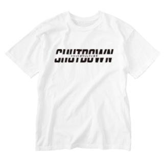 シャットダウン Washed T-shirts