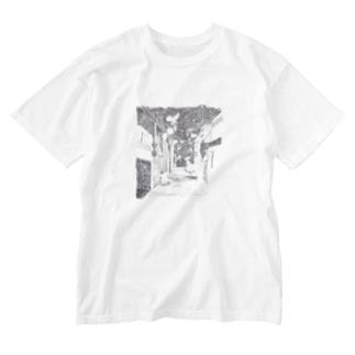 がいこつ星座 Washed T-shirts