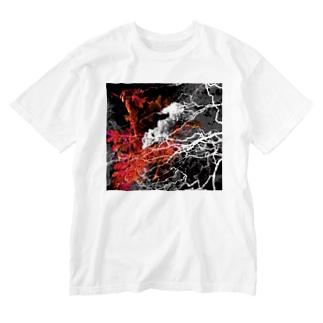 地球ノオト Washed T-shirts