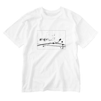 「推しが尊すぎてしんどい」×墨柄 Washed T-shirts