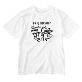天明幸子 SUZURI  オフィシャルショップのfriendship Washed T-shirts