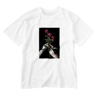 薔薇 Washed T-shirts