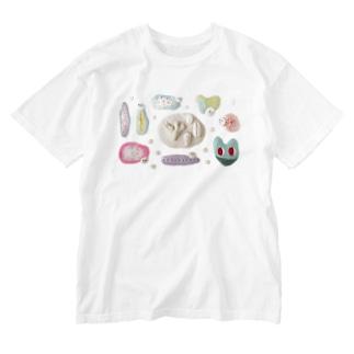 ばくちゃんず Washed T-shirts