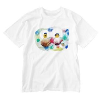 kaotandollの貝殻夫婦 Washed T-shirts