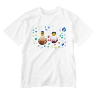 貝殻夫婦水玉 Washed T-shirts
