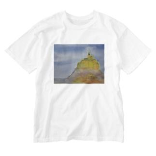 モンサンミッシェル Washed T-shirts