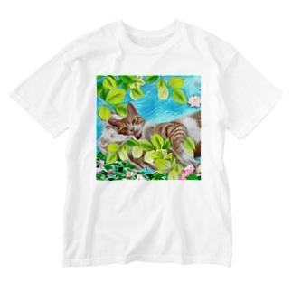 バニラ君Tシャツ Washed T-shirts
