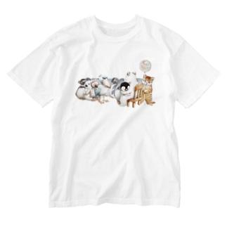 フリーハグ Washed T-shirts