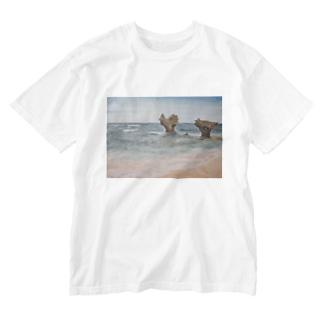 ハートロック Washed T-shirts