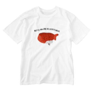 もっとまじめに泳ぎ給え Washed T-shirts