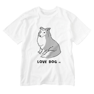 LOVE DOG:シェルティ Washed T-shirts