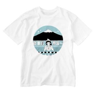 outciderのよい湯Tシャツ Washed T-shirts