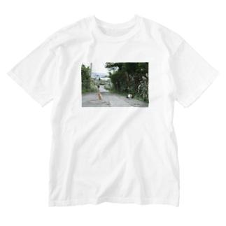 池島の猫 Washed T-shirts