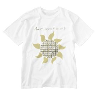 ひまわり Washed T-shirts