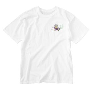 十三代目 面三郎 Washed T-shirts
